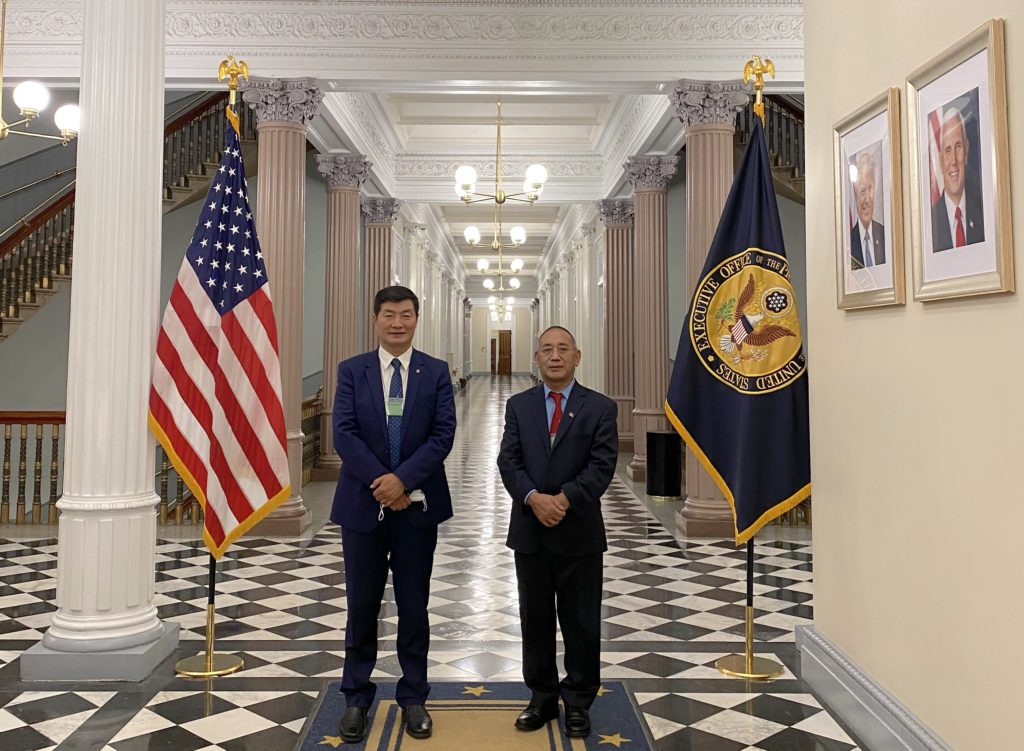 President of Tibetan government-in-exile, Lobsang Sangay, visits White House for the first time in six decades