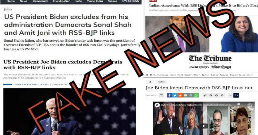 How a fake story was planted to strain India – US ties, days after Biden swearing-in
