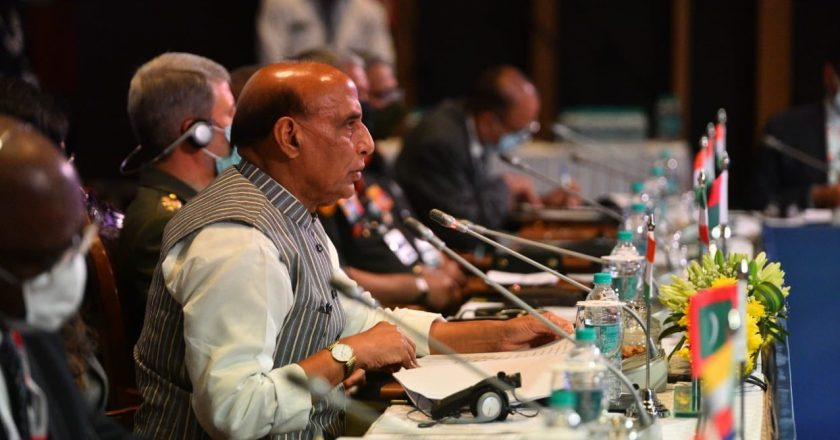 Linked futures for IOR nations depend on tackling emerging challenges & opportunities: Defence Minister Rajnath Singh