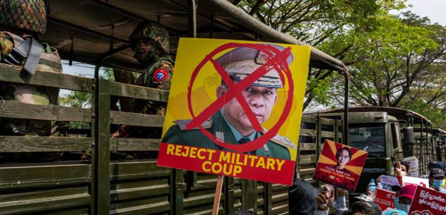 Myanmar military promises new election as it defends seizing power; Protests against coup continue to grow