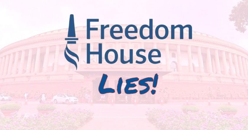 Free Flowing Lies of Freedom House and its Suppression of Facts