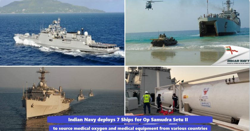 Indian Navy deploys 7 Ships for 'Op Samudra Setu II', to source medical oxygen and medical equipment from various countries