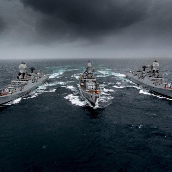 QUAD Navies participate MALABAR-21 Naval Exercise